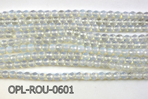 Opal Lite Faceted Round 5-6mm 16''  OPL-ROU-0601