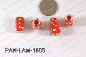 Pandora beads Lampwork 13x18mm 5mm hole Dot PAN-LAM-1806