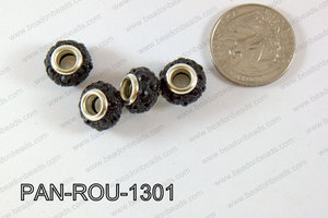 Pandora Beads 13mm 5mm hole black PAN-ROU-1301