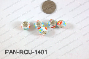Pandora beads 14x10mm 5mm hole PAN-ROU-1401