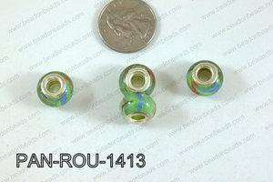 Pandora beads 14x10mm 5mm hole PAN-ROU-1413