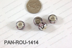 Pandora beads 14x10mm 5mm hole PAN-ROU-1414