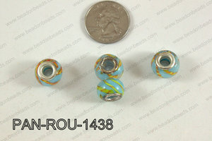 Pandora beads 14x10mm 5mm hole PAN-ROU-1438
