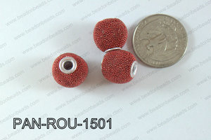 Pandora Beads 15mm 3mm hole red PAN-ROU-1501