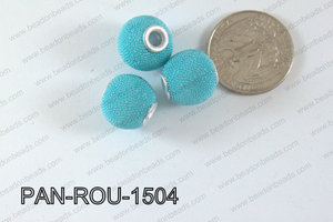 Pandora Beads 15mm 3mm hole light blue PAN-ROU-1504