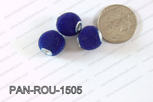 Pandora Beads 15mm 3mm hole dark blue PAN-ROU-1505