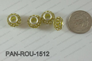Pandora Beads 15mm 5mm hole yellow PAN-ROU-1512