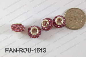 Pandora Beads 15mm 5mm hole purple PAN-ROU-1513
