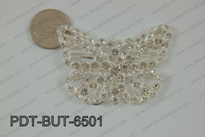 Butterfly pendantw ith rhinestones 46x65mm PDT-BUT-6501