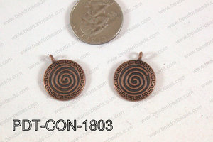 Coin Pendant Copper 18mm PDT-CON-1803