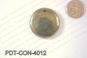 Pyrite Pendant Coin 40mm PDT-CON-4012