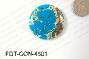 Variscite Pendant Coin Light Blue 45mm PDT-CON-4501