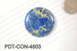 Variscite Pendant Coin Dark Blue 45mm PDT-CON-4503