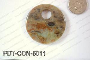 Green Opal Pendant Coin 50mm PDT-CON-5011
