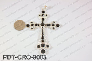 Cross pendant 90x70mm blackPDT-CRO-9003