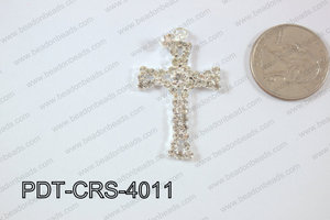 Cross Pendant 24x40mm Silver PDT-CRS-4011