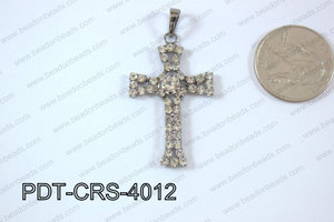 Cross Pendant 24x40mm Gun Metal PDT-CRS-4012