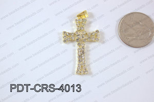 Cross Pendant 24x40mm Gold PDT-CRS-4013