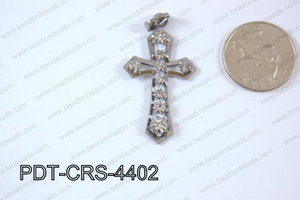 Cross Pendant 24x44mm Gun metal PDT-CRS-4402