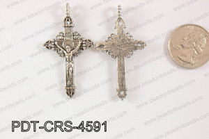 Metal Pendant Cross 20pcs 45x30mm PDT-CRS-4591