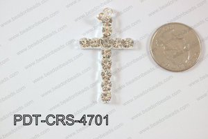 Cross Pendant 25x47mm Silver PDT-CRS-4701