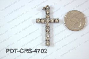 Cross Pendant 25x47mm Gun metal PDT-CRS-4702