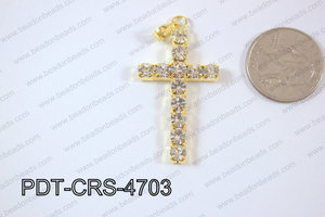 Cross Pendant 25x47mm Gold PDT-CRS-4703