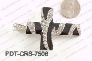 Cross Pendant with Rhinestone 48x75mm PDT-CRS-7506