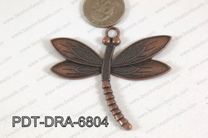 Dragonfly Pendant Copper 68x60mm PDT-DRA-6804
