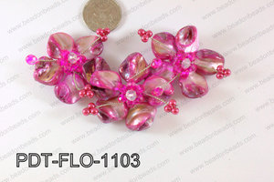 Flower Pendant Hot pink 110x70mm PDT-FLO-1103