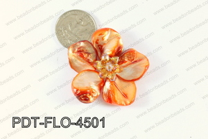 Flower Pendant Orange 45mm PDT-FLO-4501
