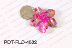 Flower Pendant Pink 45mm PDT-FLO-4502