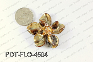 Flower Pendant Brown 45mm PDT-FLO-4504