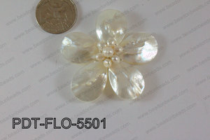Flower Pendant white 55mm PDT-FLO-5501