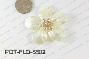 Flower Pendant beige 55mm PDT-FLO-5502