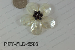 Flower Pendant black 55mm PDT-FLO-5503