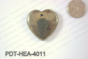 Pyrite Pendant Heart 40mm PDT-HEA-4011