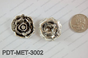 Metal Pendant Flower 20pcs 30mm PDT-MET-3002