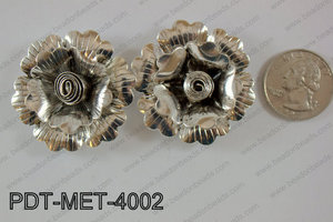 Metal Pendant Flower 10pcs 40mm PDT-MET-4002