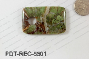 Green Opal Pendant Rectangle 55x35mm PDT-REC-5501