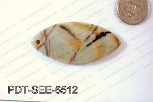 Picure jasper Pendant Seed 65x30mm PDT-SEE-6512