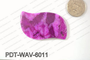 Crazy Lace Agate Pendant Wave Purple 60x35mm PDT-WAV-6011