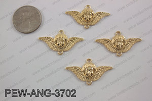Pewter angel connector gold 20x35mmPEW-ANG-3702
