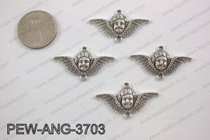 Pewter angel connector silver 20x35mmPEW-ANG-3703