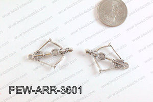 Pewter Arrow Charms Silver 25x36mm PEW-ARR-3601