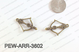 Pewter Arrow Charms Bronze 25x36mm PEW-ARR-3602