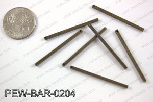 Pewter bar 2x40mm, brass PEW-BAR-0204