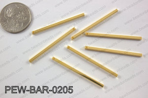 Pewter bar 2x40mm, gold PEW-BAR-0205