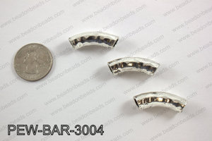 Metal bar silver 8x30mm PEW-BAR-3004