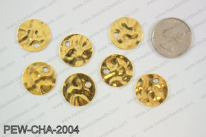 Pewter coin charms 20mm, gold PEW-CHA-2004
